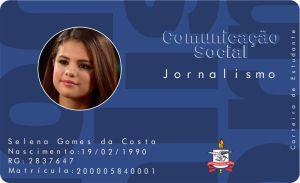 carteirinha do caco selena